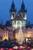 Kerstmismarkt van Praag Royalty-vrije Stock Foto