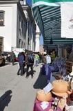Kerstmismarkt van Salzburg ` s Stock Foto's