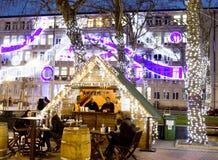 Kerstmismarkt in Varna Royalty-vrije Stock Afbeelding