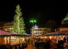 Kerstmismarkt in Vipiteno, Bolzano, Trentino Alto Adige, Italië royalty-vrije stock foto's