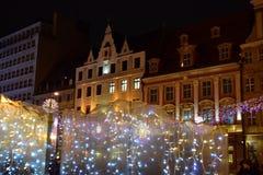 Kerstmismarkt in Wroclaw royalty-vrije stock foto's