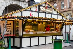 Kerstmismarkt in Wuppertal-Barmannen, Duitsland December 2017 royalty-vrije stock afbeelding