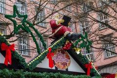 Kerstmismarkt in Wuppertal-Barmannen, Duitsland December 2017 royalty-vrije stock afbeeldingen