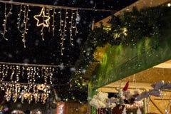 Kerstmismarkten Stock Foto