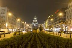 2014 - Kerstmismarkten bij het vierkant van Wenceslas, Praag Royalty-vrije Stock Foto's