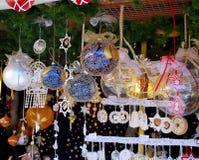 Kerstmismarkten i Stock Fotografie