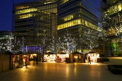 Kerstmismarkten in Londen Royalty-vrije Stock Fotografie