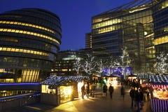 Kerstmismarkten in Londen Royalty-vrije Stock Foto's