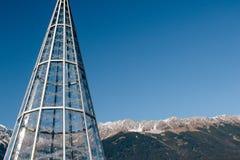 Kerstmismarkten van Innsbruck stock afbeeldingen
