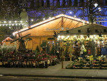 Kerstmismarkten van Manchester, Engeland Stock Afbeeldingen