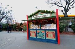 Kerstmismarktkraam, Wenen Stock Afbeelding