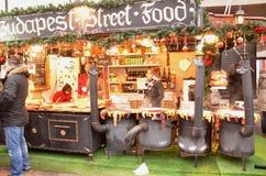 Kerstmismarktkramen Stock Fotografie