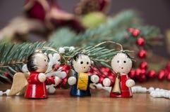 Kerstmismateriaal, de winterdecoratie Stock Afbeeldingen