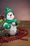 Kerstmismateriaal, de winterdecoratie Stock Fotografie