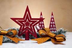 Kerstmismateriaal met lichte achtergrond Stock Foto