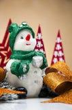 Kerstmismateriaal met lichte achtergrond Royalty-vrije Stock Fotografie
