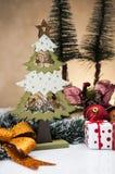 Kerstmismateriaal met lichte achtergrond Royalty-vrije Stock Afbeelding
