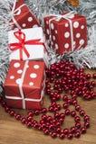 Kerstmismateriaal met omringend licht Stock Afbeeldingen