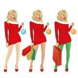 Kerstmismeisje royalty-vrije illustratie