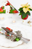 Kerstmismenu Stock Afbeelding