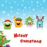 Kerstmismonsters stock illustratie