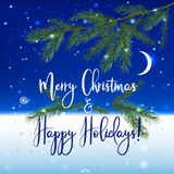 Kerstmisny Achtergrond Stock Foto
