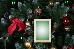 Kerstmisomlijsting Stock Foto's