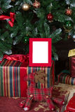 Kerstmisomlijsting Stock Afbeeldingen