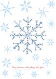 Kerstmisontwerp met sneeuwvlokken vector illustratie