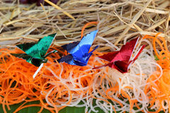 Kerstmisontwerp van voedselgroenten en vruchten Stock Afbeeldingen