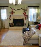Kerstmisopen haard Royalty-vrije Stock Fotografie