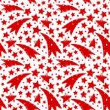 Kerstmisornament met grungy Kerstmis rode sterren Stock Fotografie