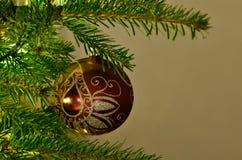Kerstmisornament op een boom stock foto