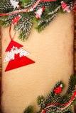 Kerstmisornament op papier Royalty-vrije Stock Foto