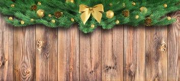 Kerstmisornament over het houten planken 3d teruggeven vector illustratie