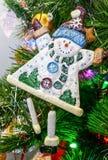 Kerstmisornament van de sneeuwmens Royalty-vrije Stock Foto