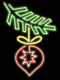 Kerstmisornament van het neon Royalty-vrije Stock Foto