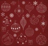 Kerstmisornamenten Stock Afbeelding
