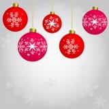 Kerstmisornamenten het hangen royalty-vrije illustratie