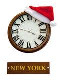 Kerstmisornamenten, klokken, sterren, ballen, de lusjes van Kerstmiskronen, boom, vakantie, nieuw jaar, decoratie voor Kerstbomen Stock Fotografie