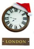 Kerstmisornamenten, klokken, sterren, ballen, de lusjes van Kerstmiskronen, boom, vakantie, nieuw jaar, decoratie voor Kerstbomen Royalty-vrije Stock Afbeelding