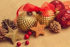 Kerstmisornamenten voor de boom Stock Foto