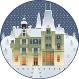 Kerstmispaleis Royalty-vrije Illustratie