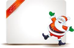 Kerstmispaneel met grappige Santa Claus Royalty-vrije Stock Afbeelding