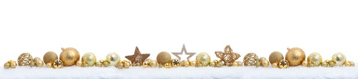Kerstmispanorama op wit stock fotografie