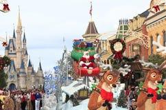 Kerstmisparade, Magisch Koninkrijk, Florida Royalty-vrije Stock Fotografie