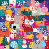 Kerstmispatroon Stock Foto's