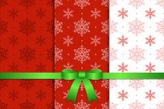 Kerstmispatroon en Lint vector illustratie
