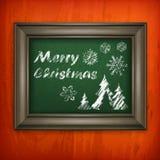 Kerstmispatroon in kader Stock Afbeelding