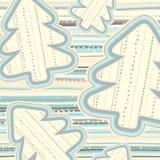 Kerstmispatroon in lichte pastelkleuren Stock Fotografie